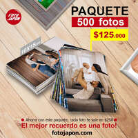 Paquete 500 fotos