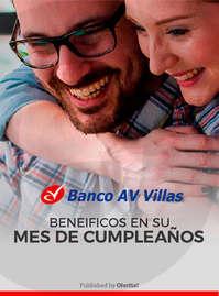 Banco AV Villas beneficios cumpleños