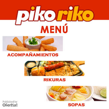 Piko Riko menu- Page 1