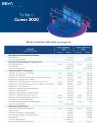 Tarifa Comex2020
