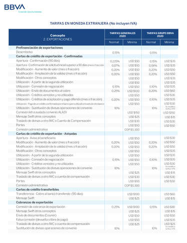 Tarifa Comex2020- Page 1