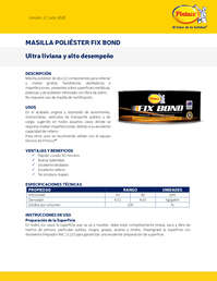 Masilla poliester Fix Bond
