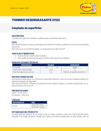 Thinner desengrasante 21122