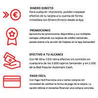 Santander ventajas tc