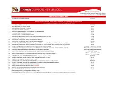 Tasas y Tarifas- Page 1