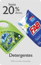 Detergentes con hasta -20