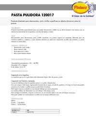 Pastas pulidora 120017