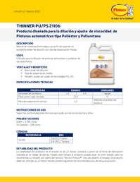 Thinner pu ps 21106