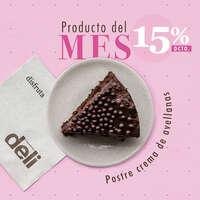 Producto del mes: Postre de crema de avellanas
