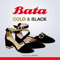 Bata gold&black