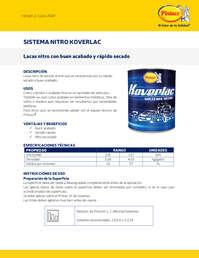 Sistema nitro Koverlac