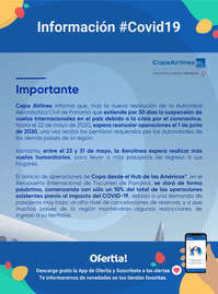 Copa Airlines #COVID 19