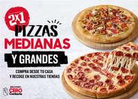 2x1 en pizzas