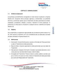 Expreso Brasilia Manual tratamiento de Datos