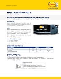Masilla poliester P1500