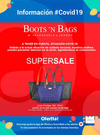 Boots and bags Covid