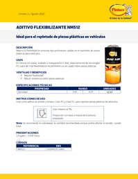 Aditivo Flexibilizante nm512