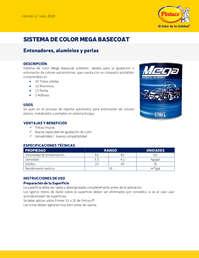 Sistema de color mega basecoat