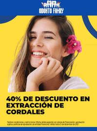 -40% en extracción de cordales