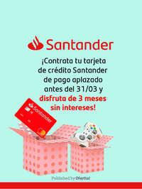 Santander 3 meses sin intereses