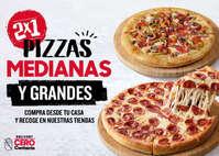 2x1 pizzas