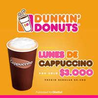 Dunkin Donuts lunes de capuccino