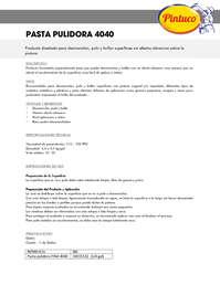 Pasta pulidora 4040