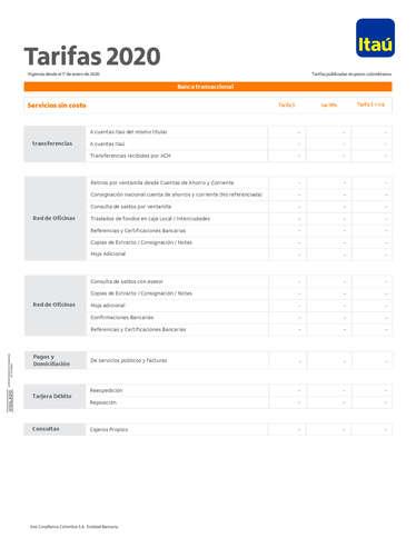 Tarifario Cliente- Page 1