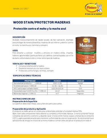 Protector Madera Pintuco- Page 1