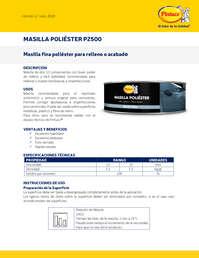 Masilla poliester P2500